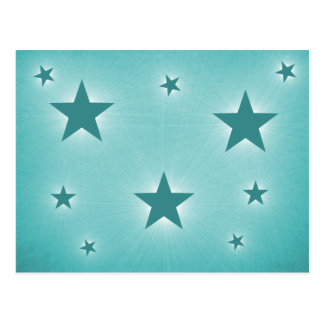 Stars in the Night Sky Postcard Teal