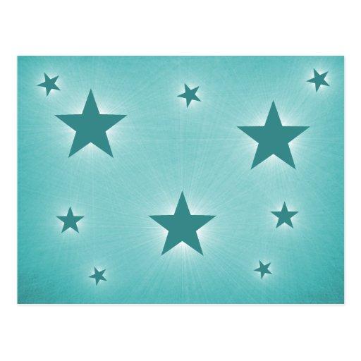 Stars in the Night Sky Postcard, Teal