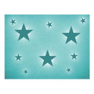 Stars in the Night Sky Postcard, Teal Postcard