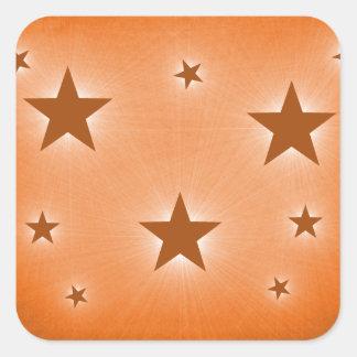 Stars in the Night Sky Stickers, Orange Square Sticker
