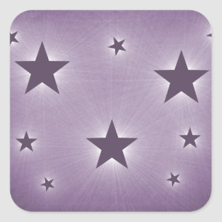 Stars in the Night Sky Stickers, Purple Square Sticker