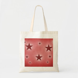 Stars in the Night Sky Tote Bag, Dark Red Budget Tote Bag