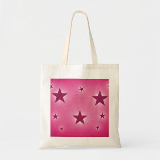 Stars in the Night Sky Tote Bag, Magenta Budget Tote Bag