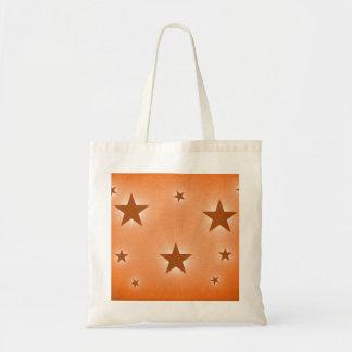 Stars in the Night Sky Tote Bag, Orange Budget Tote Bag