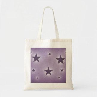 Stars in the Night Sky Tote Bag, Purple Budget Tote Bag