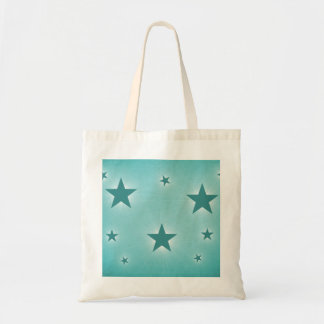 Stars in the Night Sky Tote Bag, Teal Budget Tote Bag