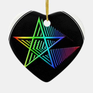 Stars in the Stars Ceramic Heart Decoration