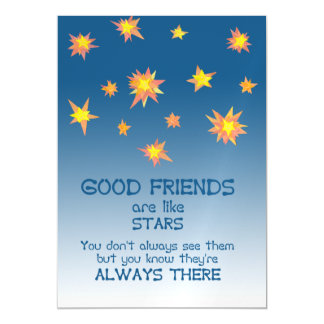 Stars Inspirational Friendship Quote Magnetic Card Magnetic Invitations