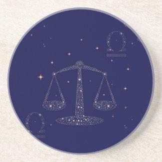 stars libra drink coaster