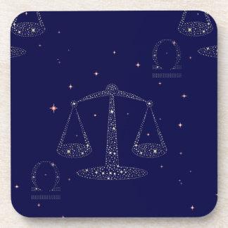 stars libra drink coasters
