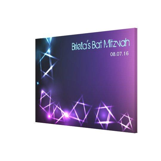 STARS & LIGHTS Bat Mitzvah Sign-In Memory Board