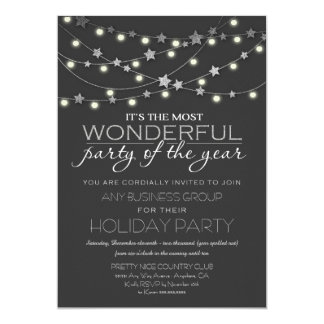 Stars + Lights Corporate Holiday Party Invitations