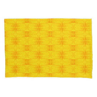 Stars Love Birth-day Bright Yellow Pillowcase
