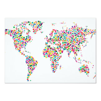 Stars Map of the World Map Card
