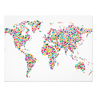 Stars Map of the World Map Photo Print