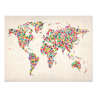 Stars Map of the World Map Photographic Print