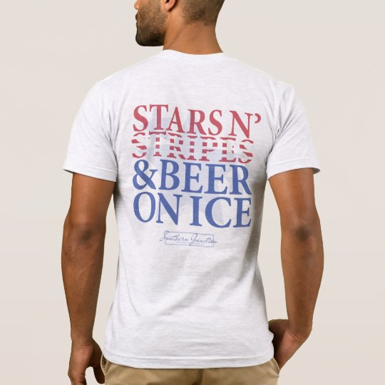 Stars N' Stripes & Beer on Ice- Men's Tee