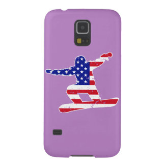 Stars 'n' Stripes SNOWBOARDER (wht) Galaxy S5 Cases