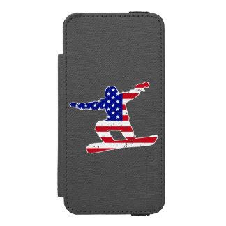 Stars 'n' Stripes SNOWBOARDER (wht) Incipio Watson™ iPhone 5 Wallet Case