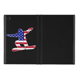 Stars 'n' Stripes SNOWBOARDER (wht) iPad Mini Cover