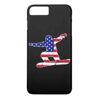 Stars 'n' Stripes SNOWBOARDER (wht) iPhone 7 Plus Case