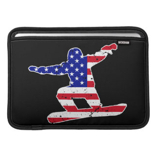 Stars 'n' Stripes SNOWBOARDER (wht) Sleeve For MacBook Air