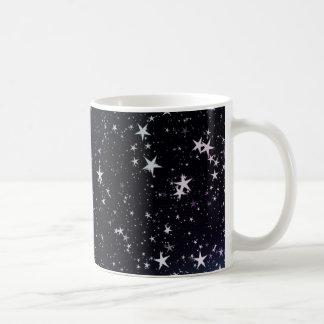 Stars night sky basic white mug