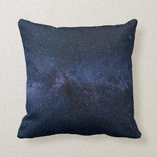 Stars Night Sky Midnight Blue & Black Milky Way Cushion