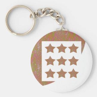 STARS Novino Signature style Pattern n Background Keychain