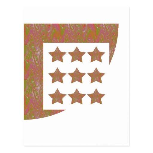STARS Novino Signature style Pattern n Background Post Cards