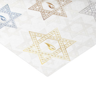 Stars Of David & Flame - Tissue Paper
