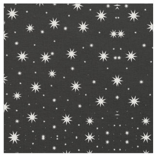 Stars on Black Fabric
