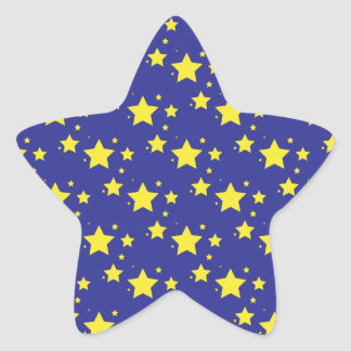 Stars on Blue Background Sticker