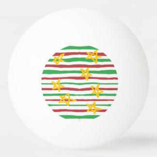 Stars on Christmas Stripes Ping Pong Ball