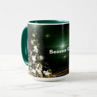 Stars on Christmas Tree Night Sky Combo Mug