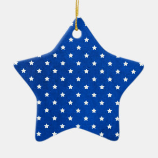 Stars On Fabric Texture Ceramic Star Decoration