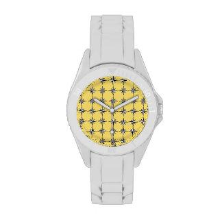 Stars on gold design watch