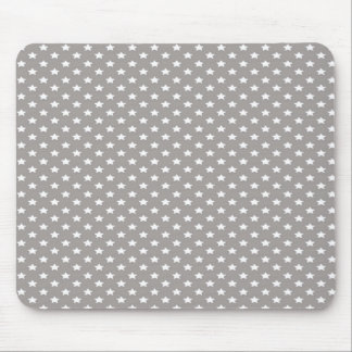 Stars on Grey Mouse Mat