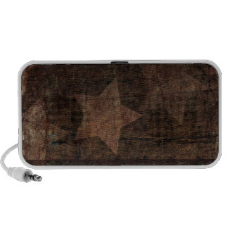 Stars on Wood Rustic Patriotic Laptop Speaker