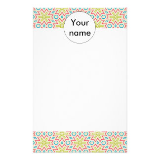 Stars pattern abstract design customized stationery