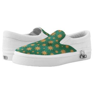 Stars pattern slip on shoes