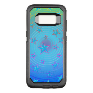 Stars pattern with color adjustable OtterBox commuter samsung galaxy s8 case