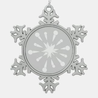 Stars Pewter Snowflake Decoration