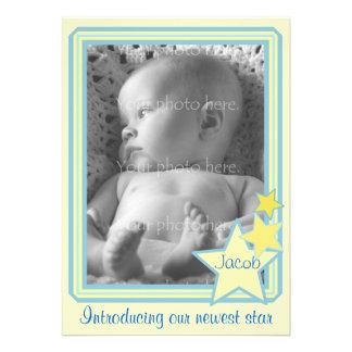 Stars Photo Baby Announcement