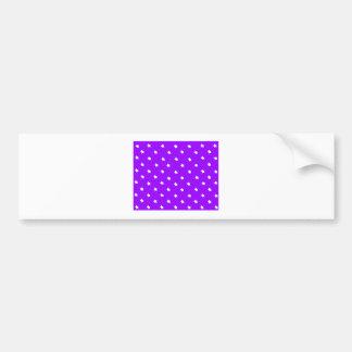 Stars Purple White The MUSEUM Zazzle Gifts Bumper Sticker