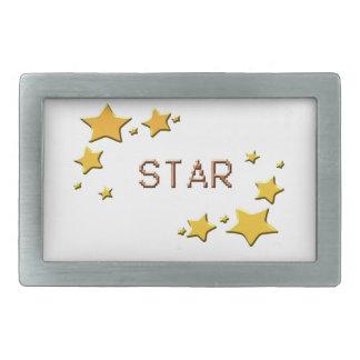 stars rectangular belt buckles