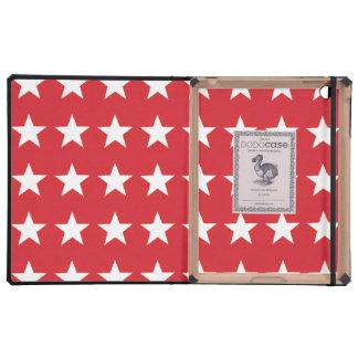 stars red iPad case