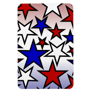 Stars (Red, White and Blue) Flexible Magnet