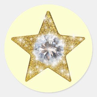 Stars Round Sticker