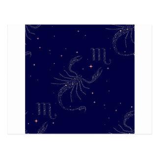 stars scorpio postcard
